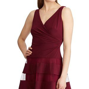 Lauren Evening Exotic Ruby Dress